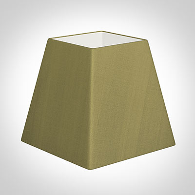40cm Sloped Square Shade in Antique Gold Silk