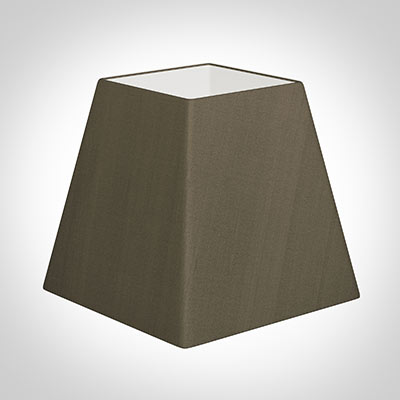 40cm Sloped Square Shade in Bronze Brown Silk