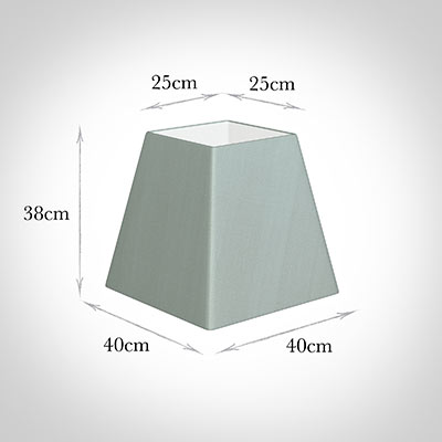 40cm Sloped Square Shade in French Grey Silk