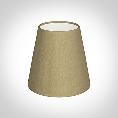 Tapered Candle Shade in Oyster Faux Silk