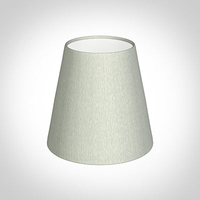 Tapered Candle Shade in Grey Faux Silk