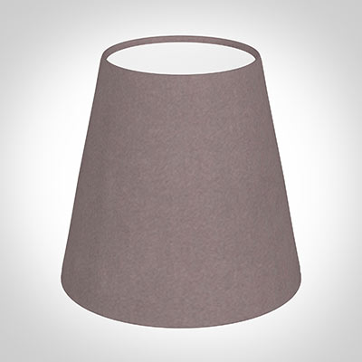 Tapered Candle Shade in Dusky Pink Hunstanton Velvet