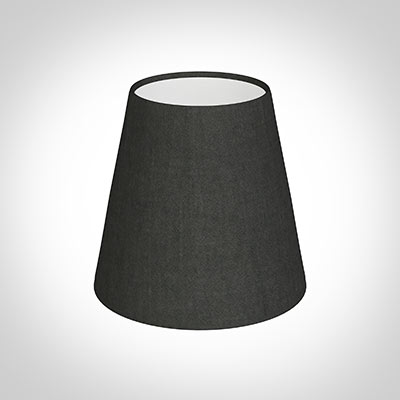 Tapered Candle Shade in Pewter Killowen Linen