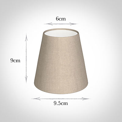 Tapered Candle Shade in Putty Killowen Linen