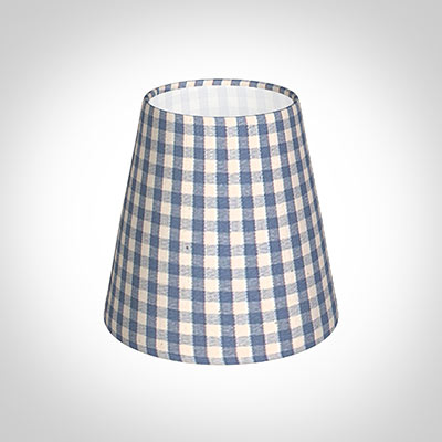 Tapered Candle Shade in Azure Blue Gingham
