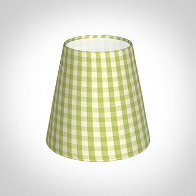 Tapered Candle Shade in Zesty Green Gingham(discontinued, only stock shown available)