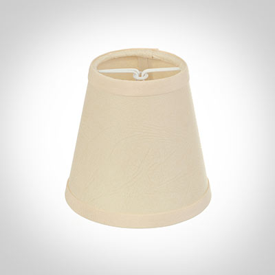 Tapered Candle Shade in Parchment with Cream Trim