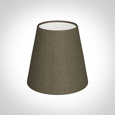 Tapered Candle Shade in Bronze Brown Silk