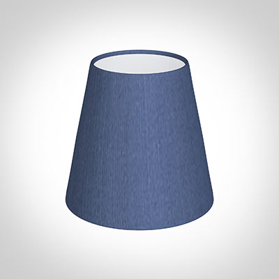 Tapered Candle Shade in Slate Blue Silk