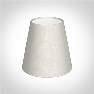 Tapered Candle Shade in Off White Waterford