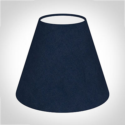Bathroom Candle Shade in Navy Blue Hunstanton Velvet