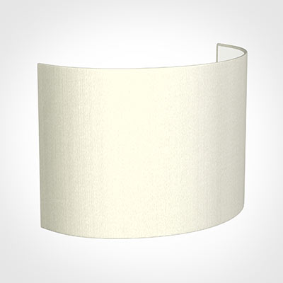 28cm Carlyle Half Shade in Pearl Faux Silk