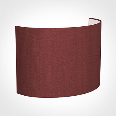 28cm Carlyle Half Shade in Antique Red Silk