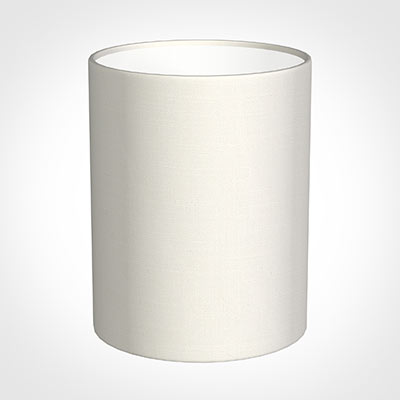 16cm Medium Cylinder Shade in Off WhiteWaterford Linen