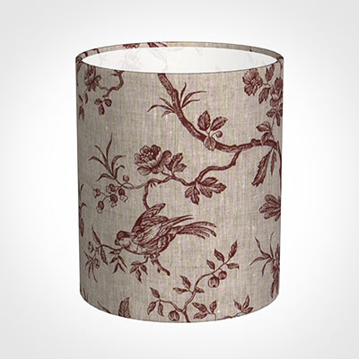 20cm Medium Cylinder Shade in Red Isabelle