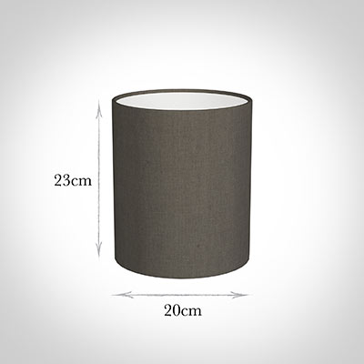 20cm Medium Cylinder Shade in Mouse Waterford Linen