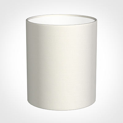 20cm Medium Cylinder Shade in Off WhiteWaterford Linen