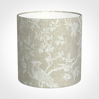 25cm Medium Cylinder Shade in White Isabelle