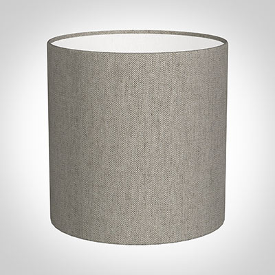 25cm Medium Cylinder in Limestone Herringbone Lovat Tweed