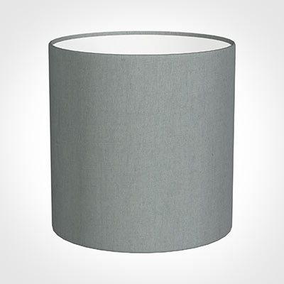 25cm Medium Cylinder Shade in Blue Waterford Linen