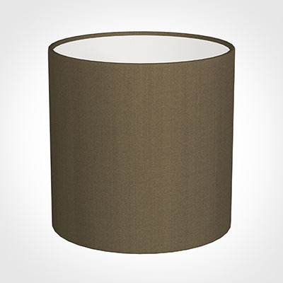 30cm Medium Cylinder Shade in Bronze Faux Silk