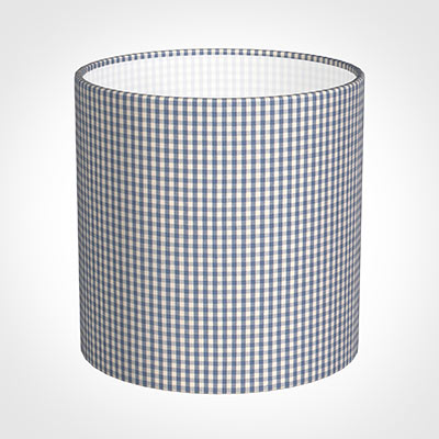30cm Medium Cylinder Shade in Blue Longford Gingham