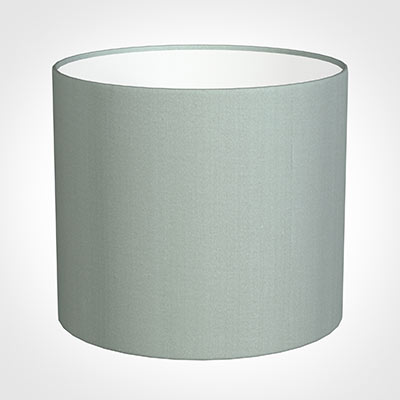35cm Medium Cylinder Shade in French Grey Silk
