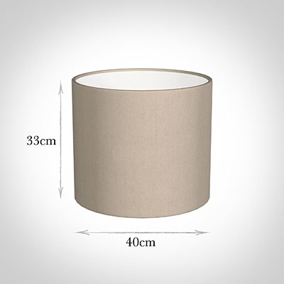 40cm Medium Cylinder Shade in Putty KillowenLinen
