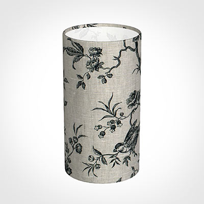 13cm Narrow Cylinder Shade in Black Isabelle
