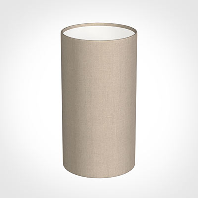 13cm Narrow Cylinder Shade in Putty Killowen Linen
