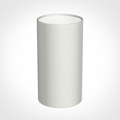 13cm Narrow Cylinder Shade in White Killowen Linen