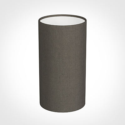 13cm Narrow Cylinder Shade in Mouse Waterford Linen