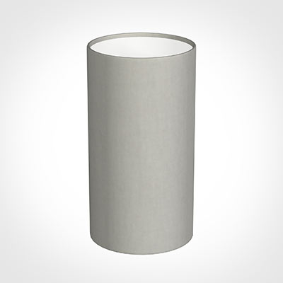 13cm Narrow Cylinder Shade in Soft Grey Waterford Linen