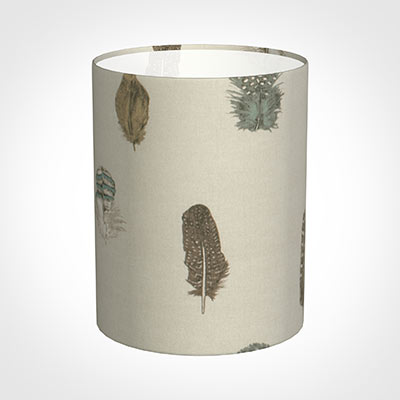 20cm Narrow Cylinder Shade in Stone Featherdown