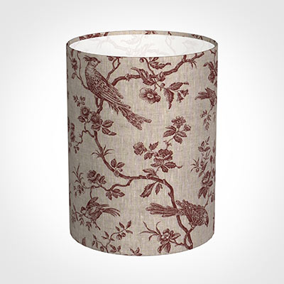 30cm Narrow Cylinder Shade in Red Isabelle