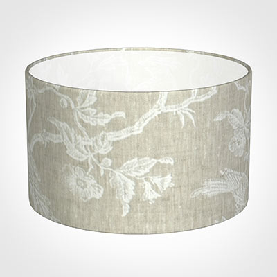 20cm Wide Cylinder Shade in White Isabelle