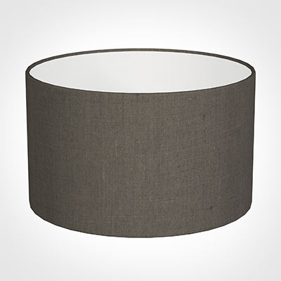 20cm Wide Cylinder Shade in Mouse Waterford Linen