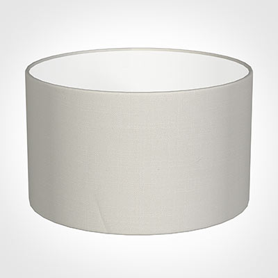 20cm Wide Cylinder Shade in Off White Waterford Linen