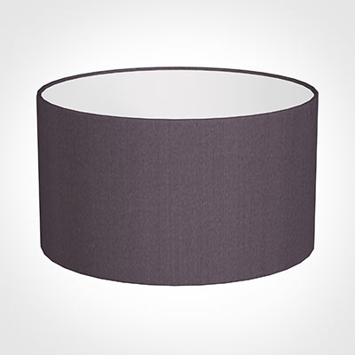 25cm Wide Cylinder Shade in Heather Silk