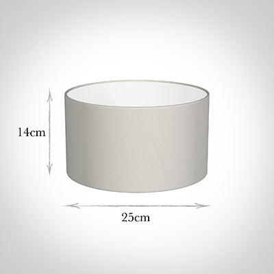 25cm Wide Cylinder Shade in Off White Waterford Linen