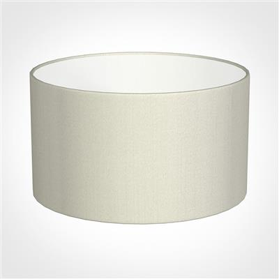 30cm Wide Cylinder Shade in Pearl Faux Silk
