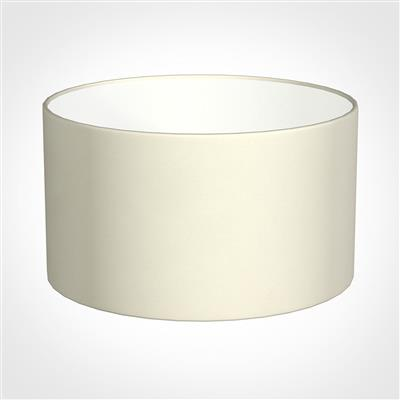 30cm Wide Cylinder Shade in Cream Satin