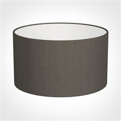 30cm Wide Cylinder Shade in Mouse Waterford Linen