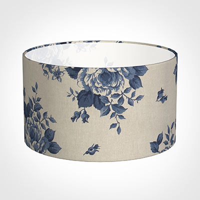 35cm Wide Cylinder Shade in Blue Bloom