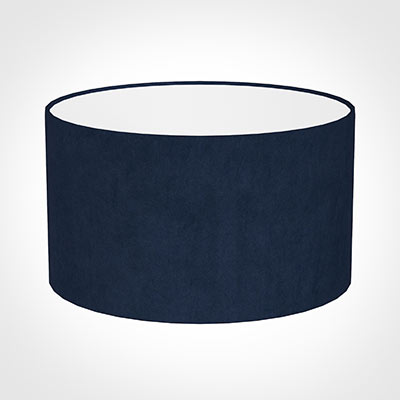 35cm Wide Cylinder Shade in Navy Blue Hunstanton