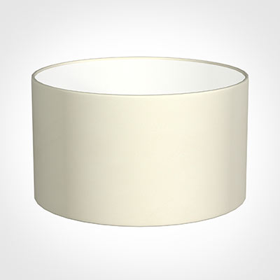 35cm Wide Cylinder Shade in Cream Satin