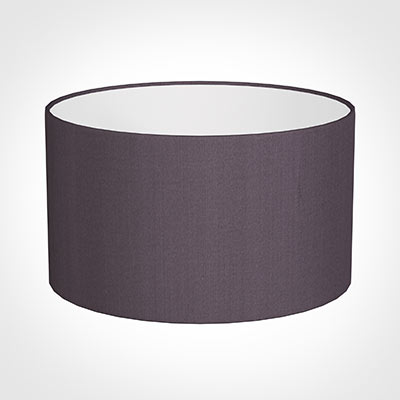 35cm Wide Cylinder Shade in Heather Silk