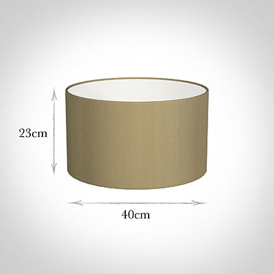 40cm Wide Cylinder Shade in Oyster Faux Silk