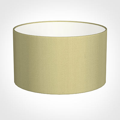 40cm Wide Cylinder Shade in Wheat Faux Silk