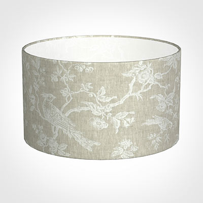 40cm Wide Cylinder Shade in White Isabelle